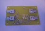 Milled and silver plated pcb